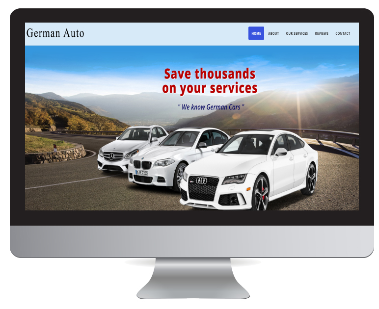 Website Design Durban - German Auto