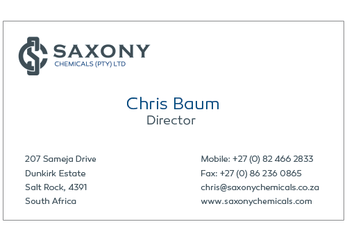saxony-business-card